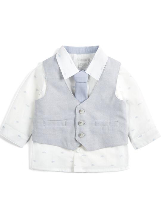 Linen Waistcoat, Shirt and Tie - 3 Piece Set image number 1