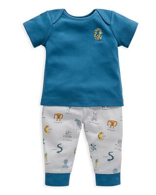 Animal Alphabet Print Jersey Pyjamas