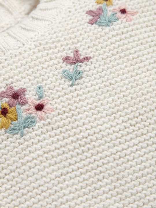 Embroidery Knit Romper image number 3
