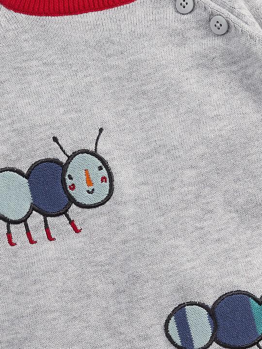 Caterpillar Romper - Grey Marl image number 3