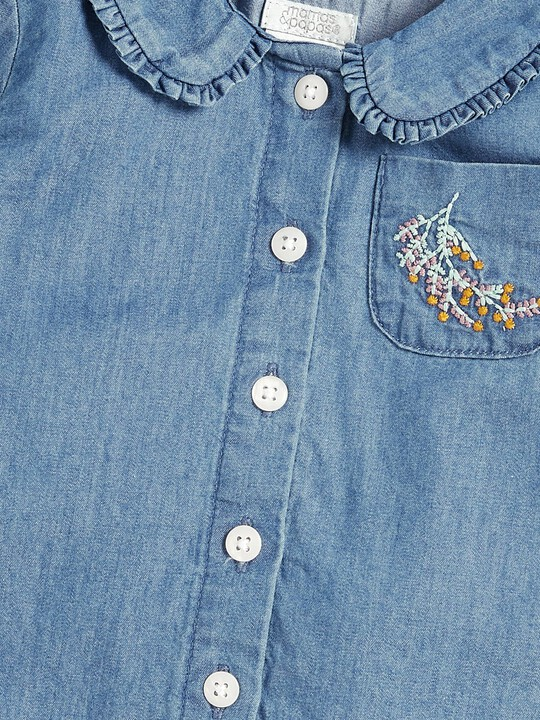 Chambray Collar Blouse image number 3