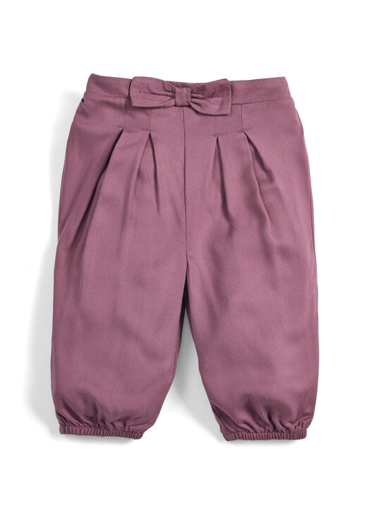 Bow Front Trousers - Berry image number 1