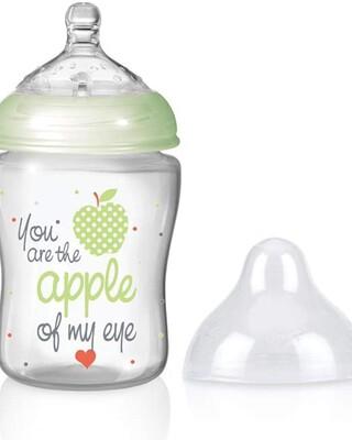 Nuby Little Moments Slow Flow SoftFlex Bottle - 270 ml,Green