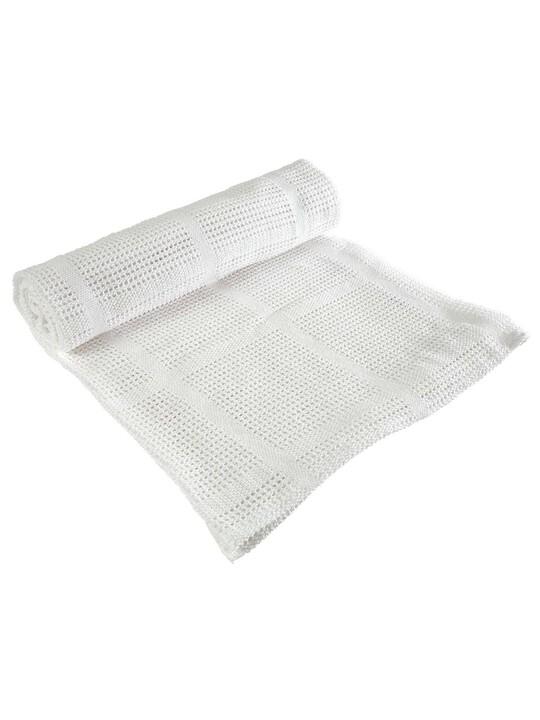 White Cellular Blanket - Small image number 1