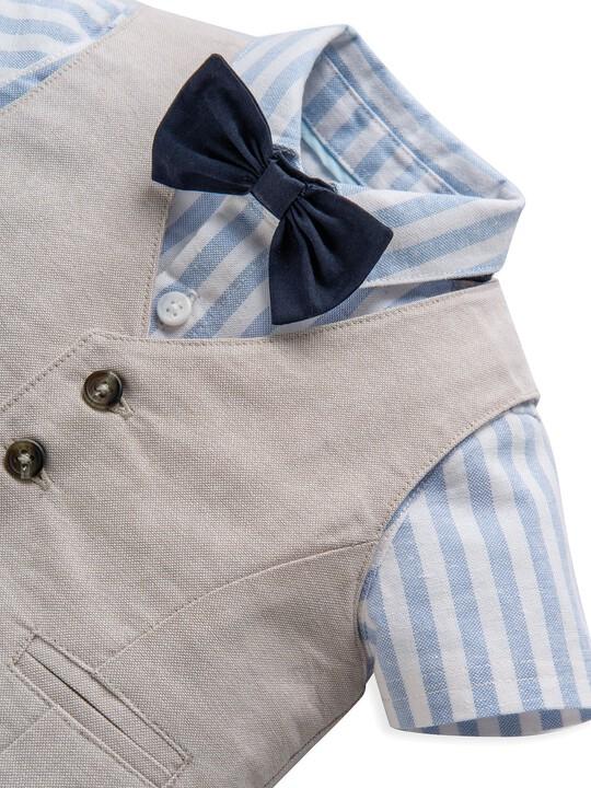 4 Piece Linen Waistcoat & Shorts Set image number 6