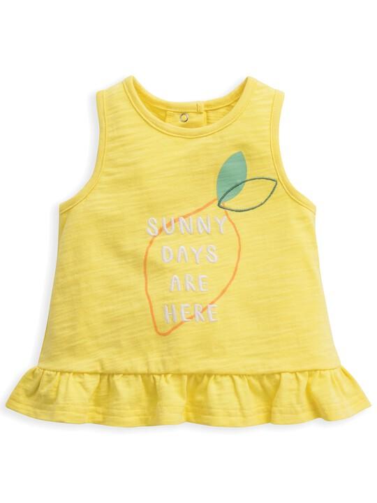 Frill Vest Lemon image number 1
