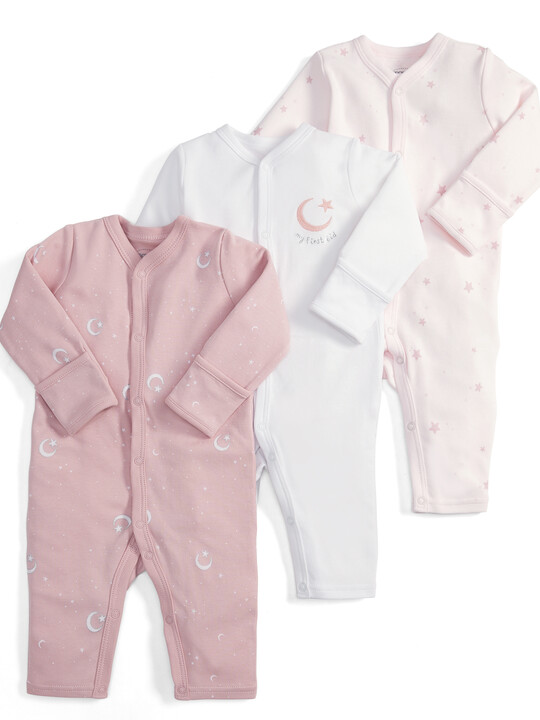 My 1st Eid Rompers Pink - 3 Pack image number 1
