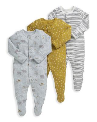3 Pack Safari Sleepsuits
