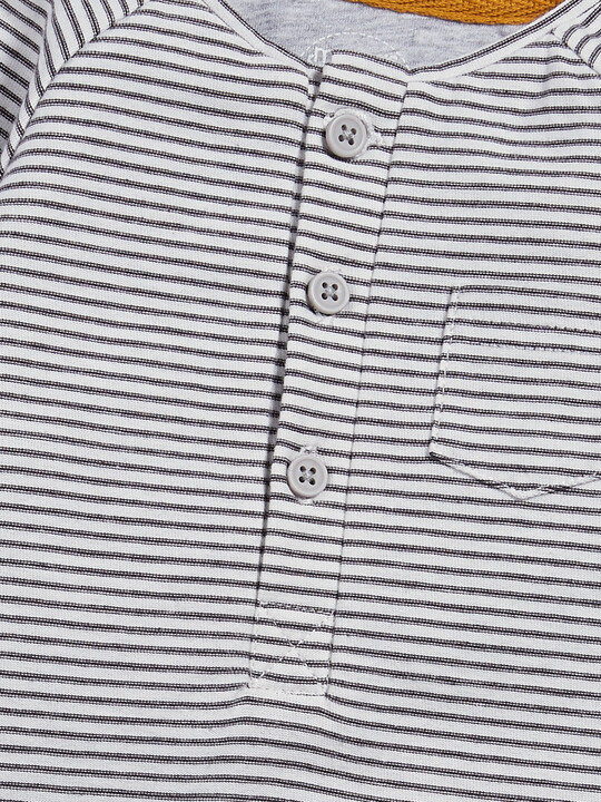 Henley Stripe All-in-One image number 3