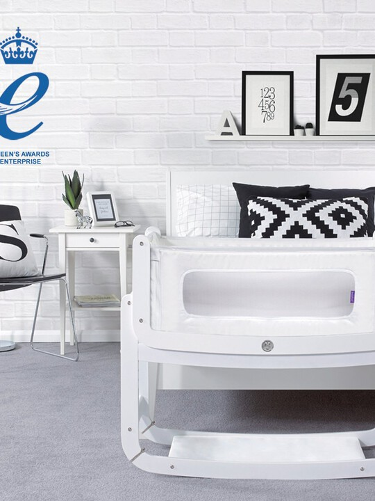 SnuzPod2 Bedside Crib 3 in 1 Eco-White with Mattress image number 4