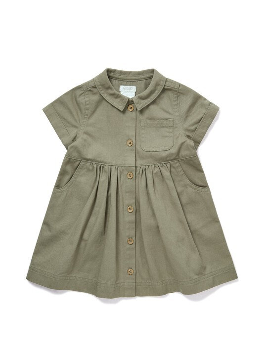 Twill Shirt Dress image number 1