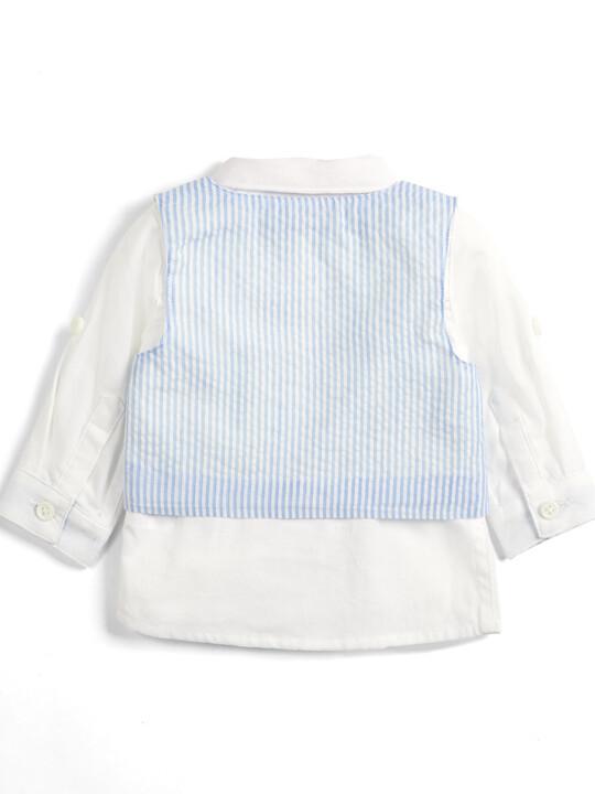 Seersucker Waistcoat, Shirt and Bowtie - 3 Piece Set image number 2