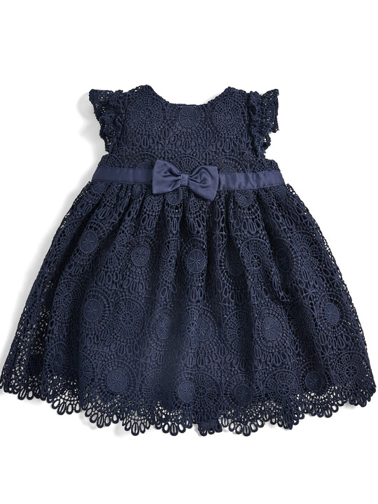 Lace Dress - Navy image number 1