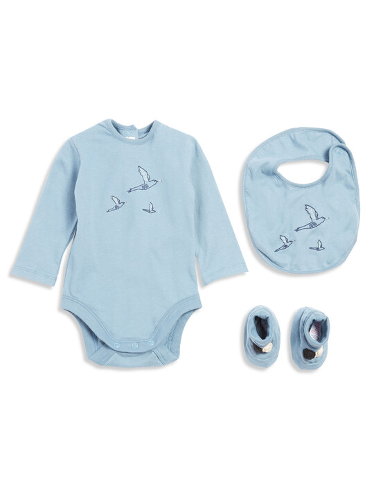 Embroidered Bodysuit Set image number 1