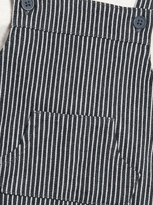 Woven Dungaree & T-Shirt Set image number 5