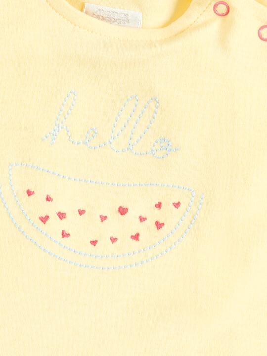 Embroidered T-Shirt & Shorts Set image number 3