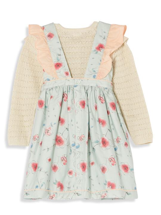 Frill Sleeve Dress & Cardigan image number 2