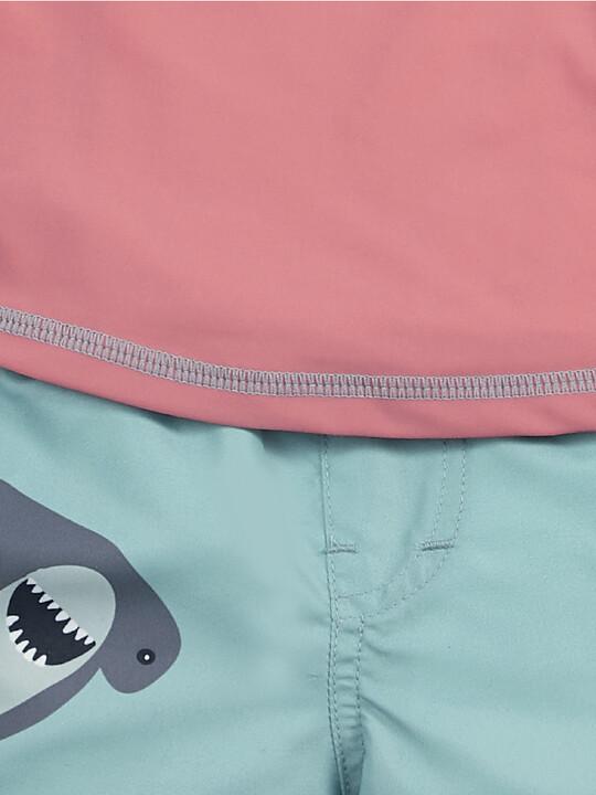 Red Rash Top & Shark Trunk image number 3