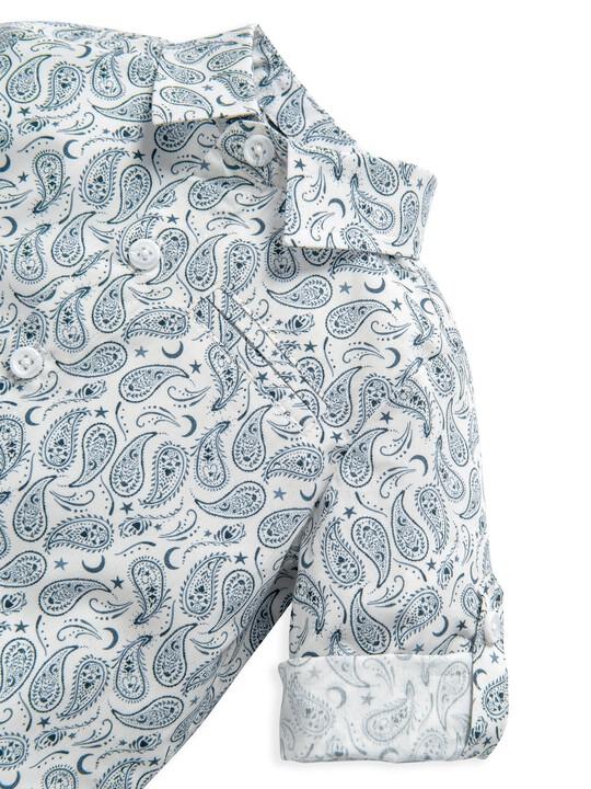 Ditsy Paisley Print Shirt image number 6