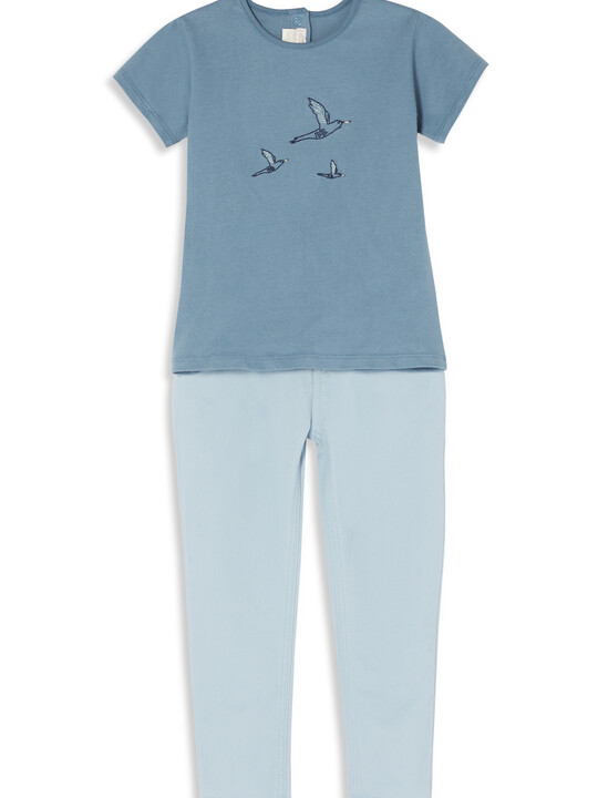 Embroidered T-Shirt & Trouser Set image number 1