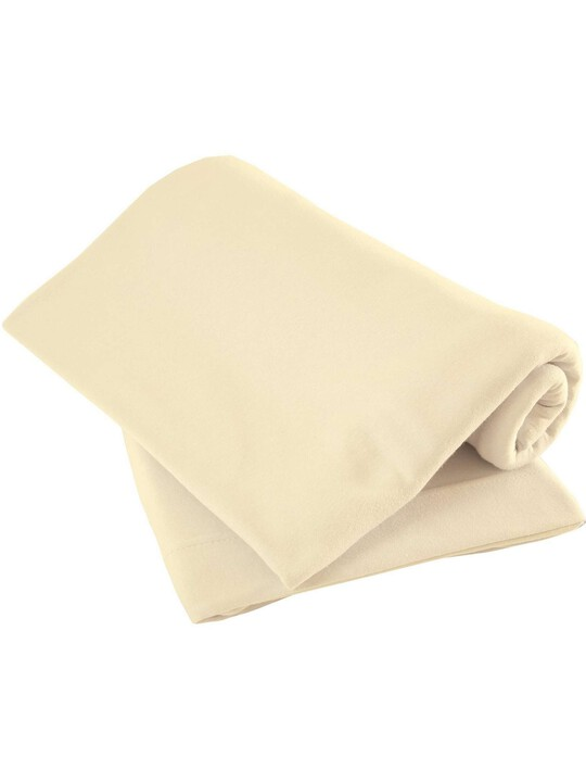 Cream Pack of Two Fitted Sheets - Crib image number 1