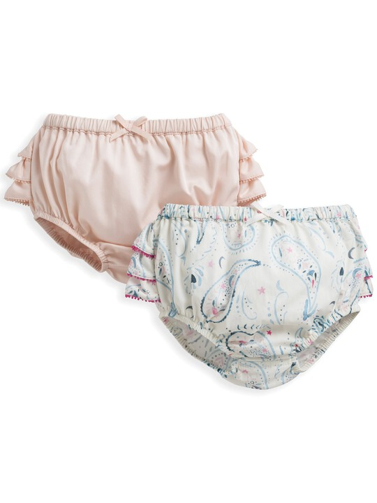 2 Pack Paisley Print Frill Knickers image number 1