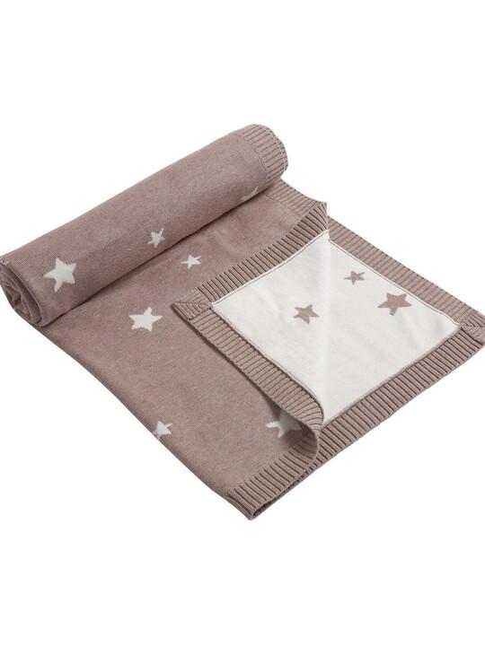 Millie & Boris - Knitted Star Blanket - 70 x 90cm image number 2