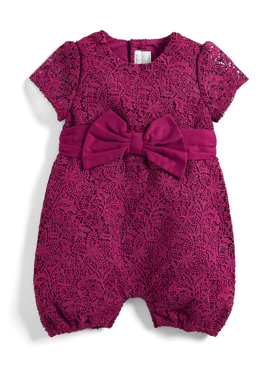 Lace Bow Romper image number 1