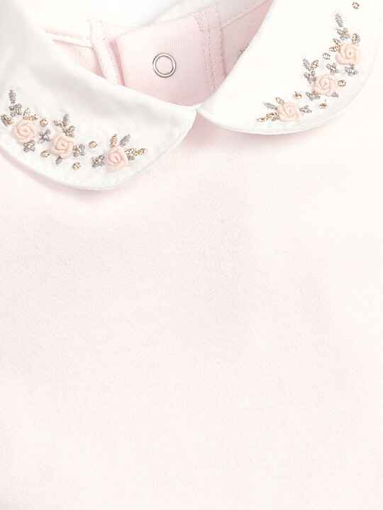 Embroidered Collar Bodysuit image number 3