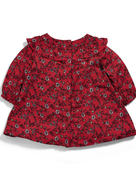Frill Floral Print Dress image number 2
