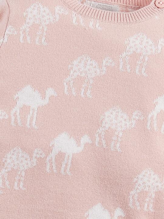 Camel Knitted Romper image number 3