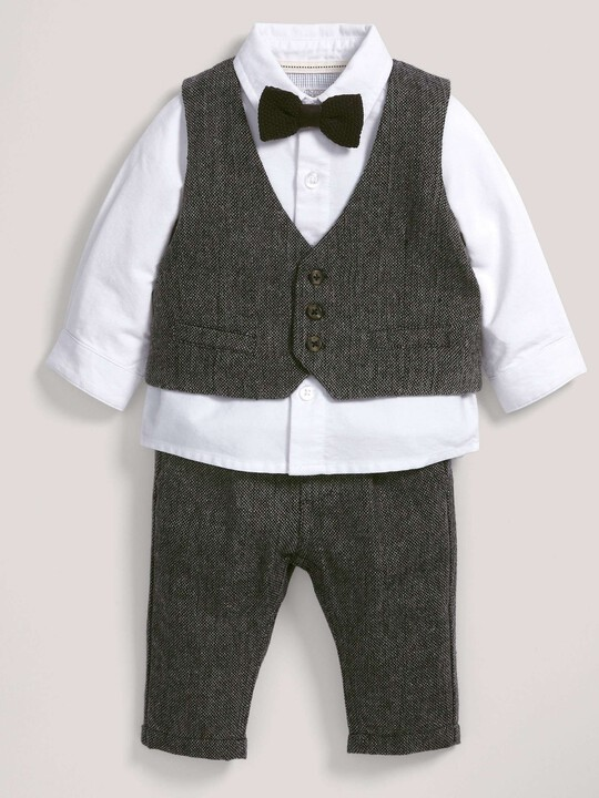 Occasion Speckle Waistcoat, Shirt, Bow Tie & Trousers Set image number 1