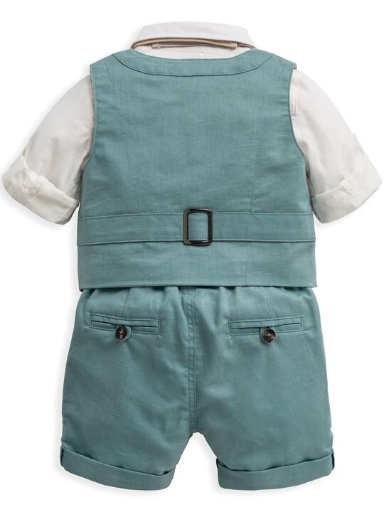 4 Piece Waistcoat & Shorts Set image number 3