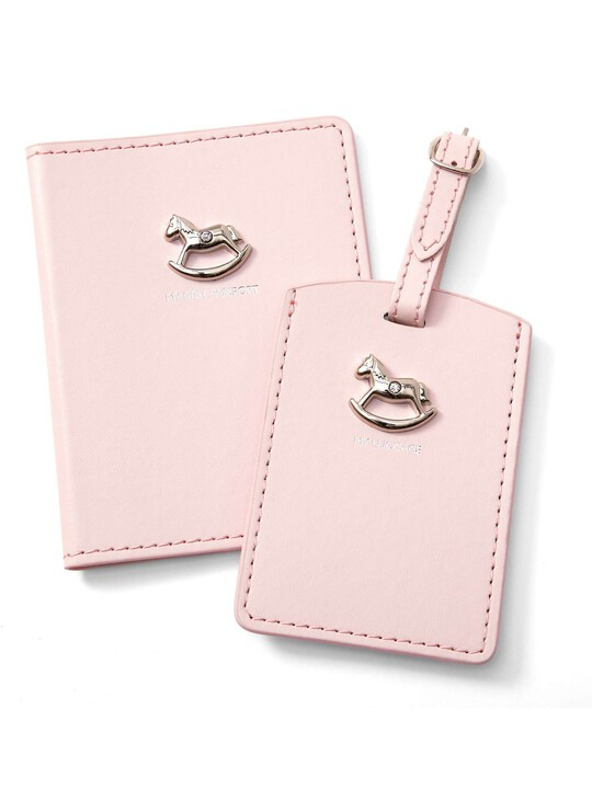 Welcome to the World Pink Passport & Tag Set image number 1