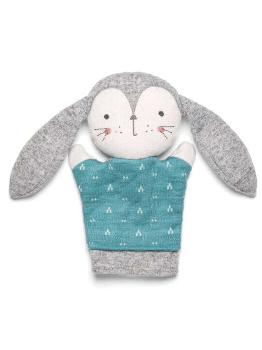 Knitted Bunny Puppet Soft Toy image number 1