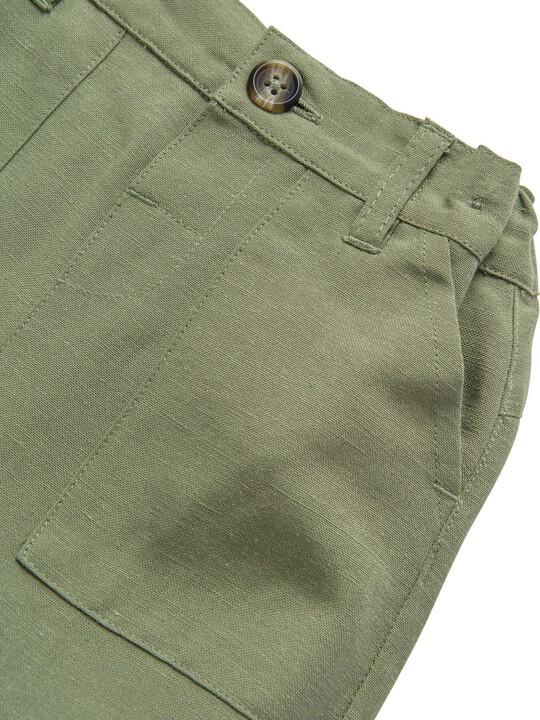 Khaki Linen Trousers image number 3