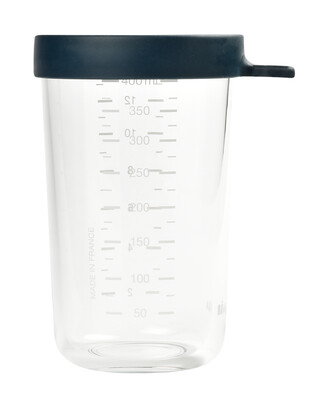 Beaba Conservation Jar Glass 400ml Dark Blue