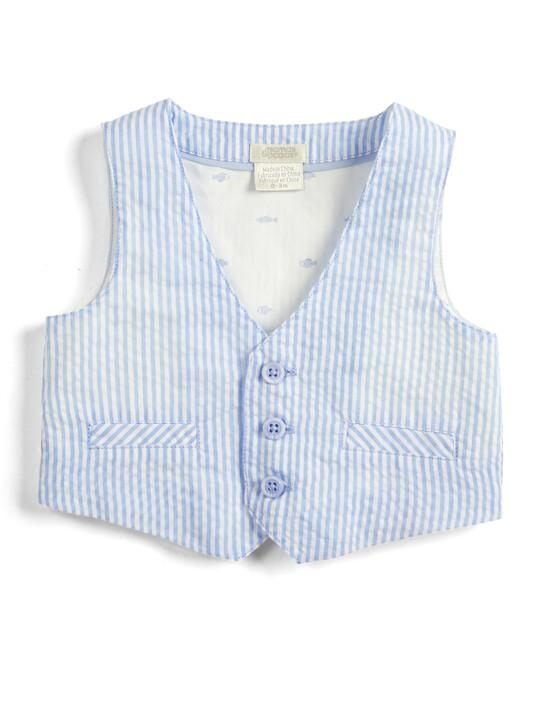 Seersucker Waistcoat, Shirt and Bowtie - 3 Piece Set image number 4