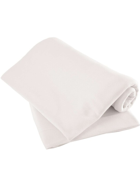 White Fitted Sheets - (Travel cot) Pack of 2 image number 1