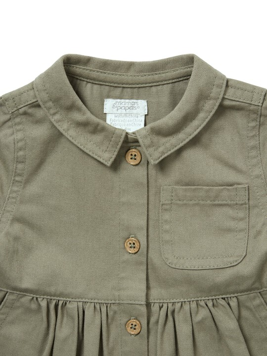 Twill Shirt Dress image number 3
