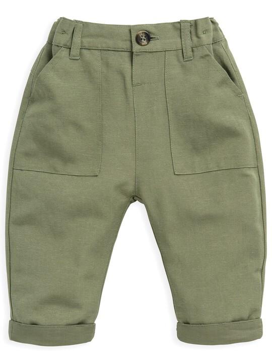 Khaki Linen Trousers image number 1