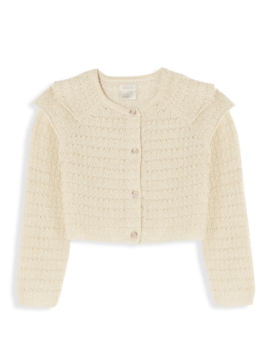 Frill Sleeve Dress & Cardigan image number 4