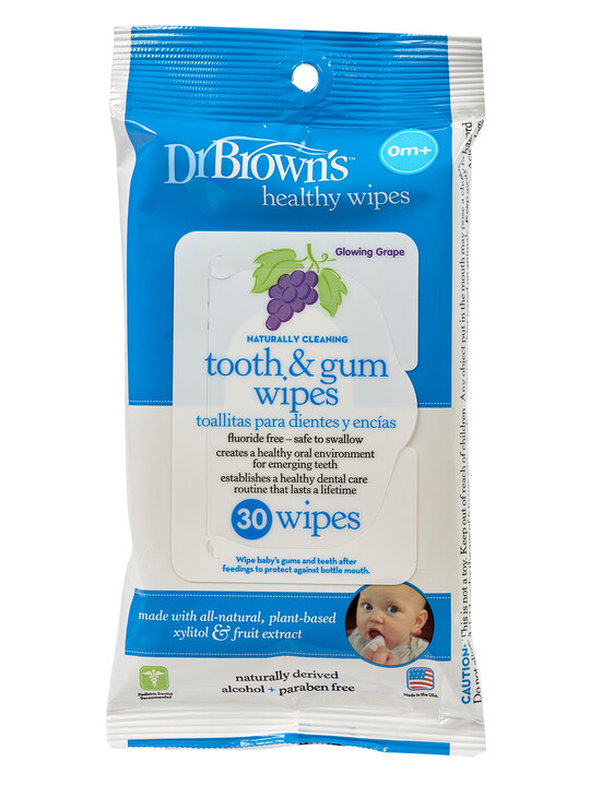 Dr Brown's Tooth & Gum Wipes ( Pack of 30 ) image number 1
