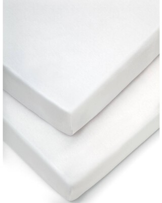 Crib Fitted Sheets (Pack of 2) - White