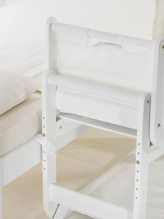 SnuzPod2 Bedside Crib 3 in 1 Eco-White with Mattress image number 8