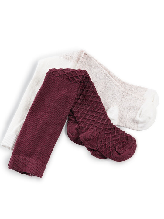 Knitted Tights (2 Pack) image number 1