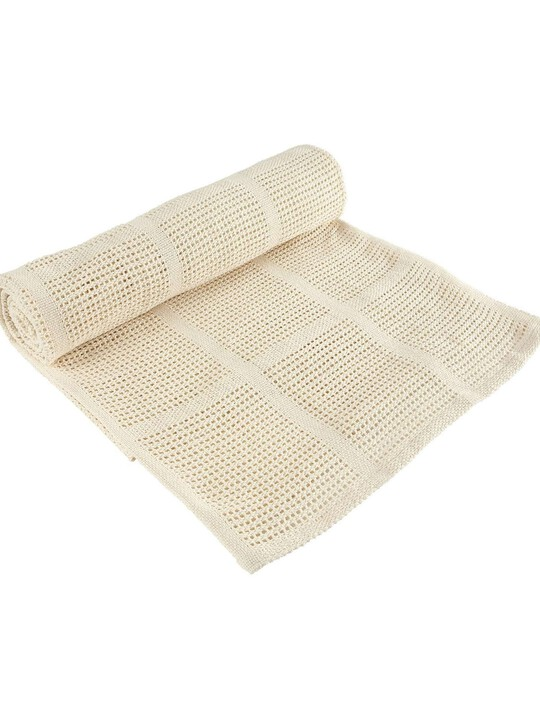 Cream Cellular Blanket - Small image number 1