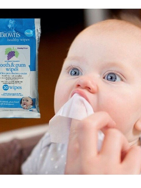 Dr Brown's Tooth & Gum Wipes ( Pack of 30 ) image number 2