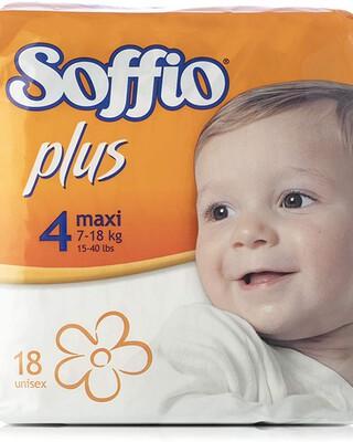 Soffio plus Soft Hug Parmon From 7Kg-18Kg, 18 Diapers