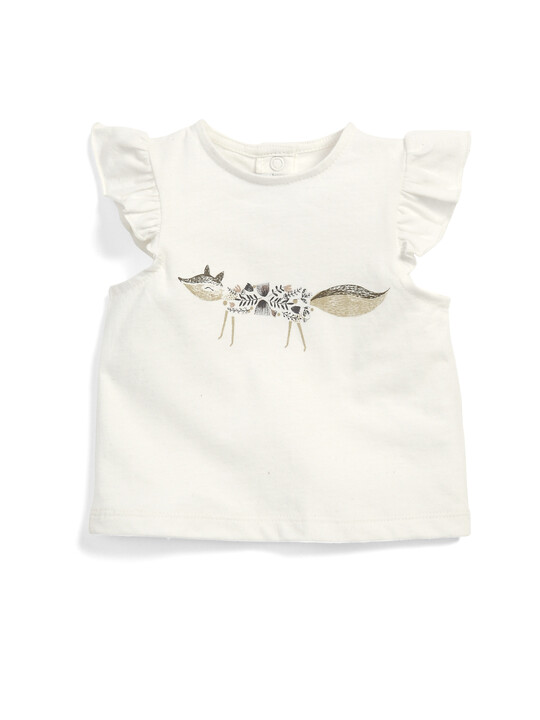 Fox Frill Sleeve T-Shirt image number 1